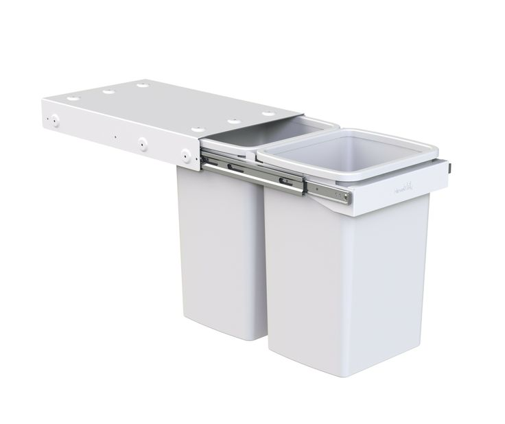 Hideaway Compact model: KC40SCH. 2 x 20 litre buckets, handle pull. Recycling solution for the larger family.
