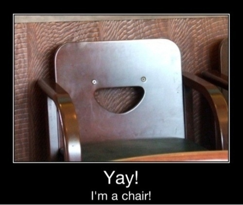 Inanimate Object, Laugh, Funny Face, Funny Pictures, Happy Chairs, Funny Stuff, Things, Smile, Funnystuff