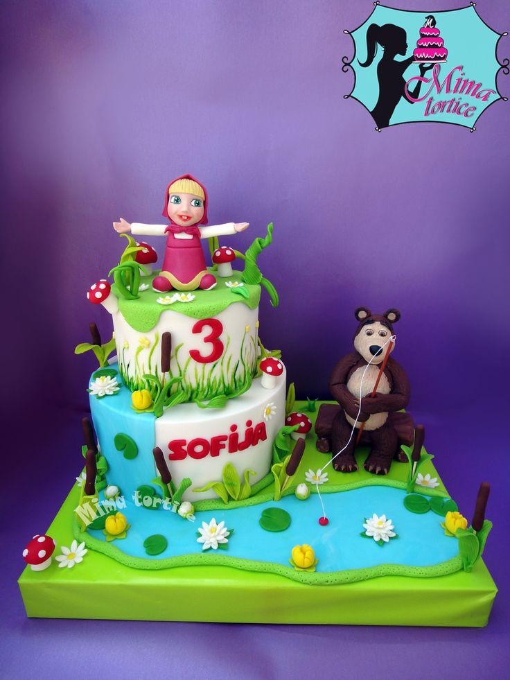 Masha and the bear cake.