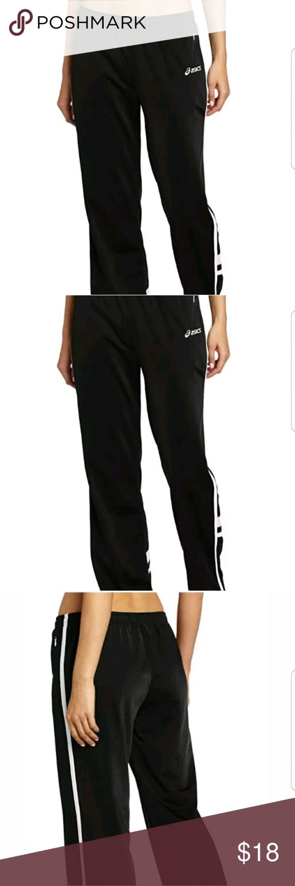 "Asics Women's Cabrillo Pants Gym Training Black Asics Women's Cabrillo Pants Gym Training Black Track   Size M   Gently used, no flaws.   Does have the initials A.S on left side of pocket.   Inseam - 31.5 ""   All items that are preowned are laundered before shipping. Please feel free to ask questions before purchasing. Measurements are approximate.   Thanks for looking! Asics Pants"