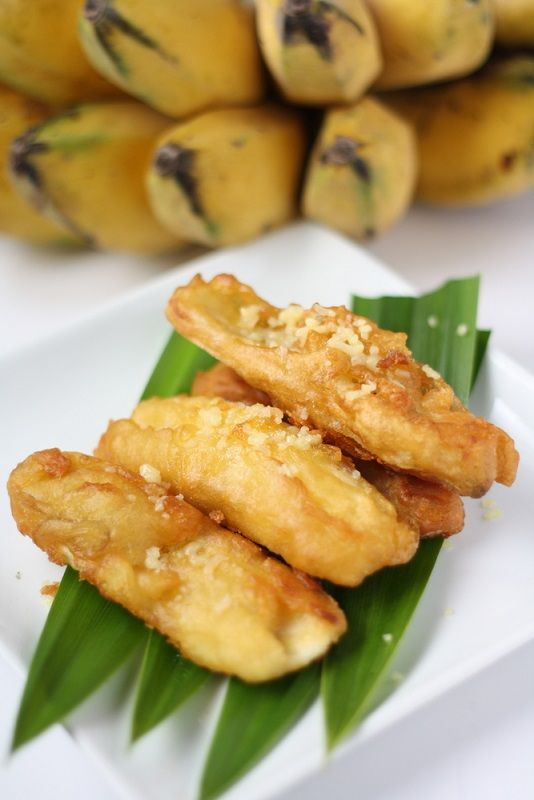 Thai Style Fried Bananas taste similar to banana fritters but made using rice flour and sesame seeds. They are delicious snacks and can be enjoyed almost everywhere in Thailand.