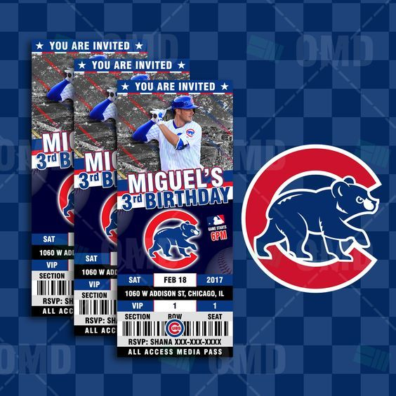 15 Best Images About Chicago Cubs Party On Pinterest