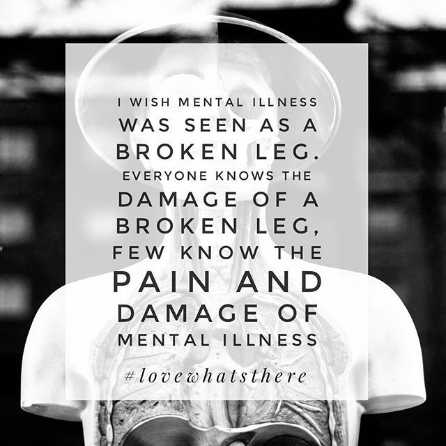 It's time for mental illness to be seen for what it is; painful and harmful, and not something to ignore. | Mental Health | Mental Health Awareness | Mental Illness | Mental Health Awareness | Recovery | Love What's There | Break the Stigma | Anxiety | Depression | BPD | ADHD | ED | OCD | MDD | Panic Attack | BP | Manic Depressive Disorder | MBD | Panic Attack | Schizophrenia | Black and White | Mental Health Quotes | Mental Illness Quotes |
