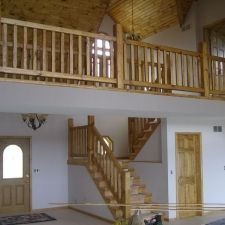 Best Knotty Pine Rustic Railing In 2019 Wood Stairs Knotty 640 x 480