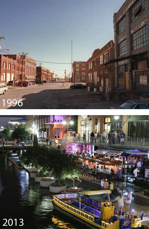 """@Kevin DeShazo: Wow MT @OUIQC: Hard to believe these images show the same OKC street. pic.twitter.com/8l6OgDQdUe"" #MAPS Good job OKC!!"