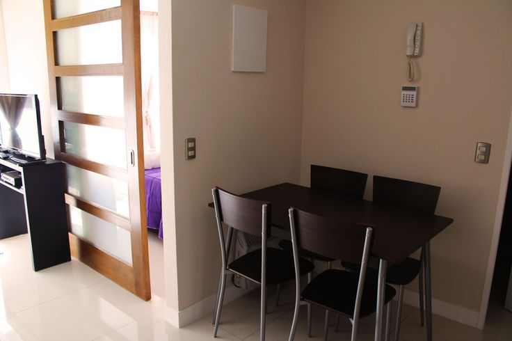 dining area  of the apartment we rent in Santiago de Chile www.internshipandtravel.cl o mail a info@internshipandtravel.cl
