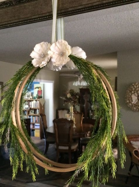 Embroidery Hoop Wreath Inspiration