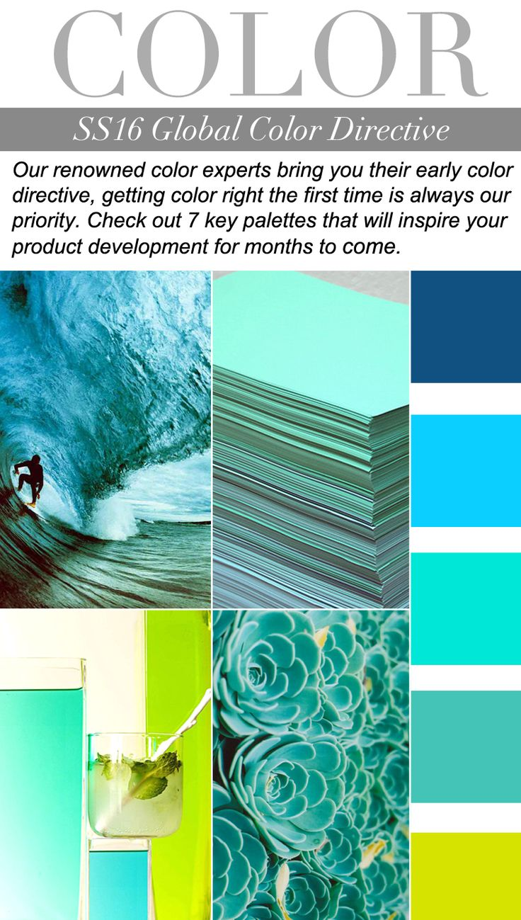 TREND COUNCIL SS 2016- GLOBAL COLOR  Colours which will be fashionable this season so we can alter the colours of the website to follow this idea and it will continually look fresh without much else changing. Please add colour as there is too much blue. There also needs a POP of colour eg the lime but not too much