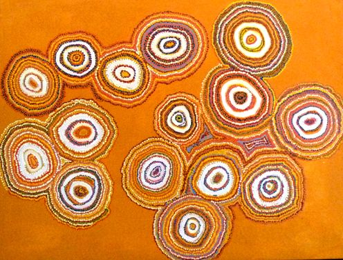 Estelle Hogan  Baltatjara  Synthetic Polymer Paint on Belgium Linen  120 x 90 cm