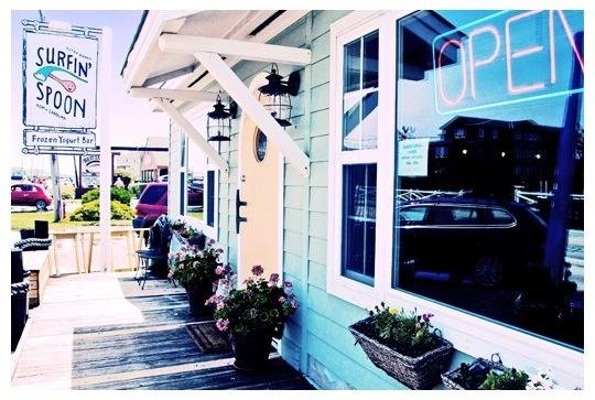 Surfin' Spoon Frozen Yogurt Bar in Nags Head, NC.  (Photo by Roanoke Island Photography)