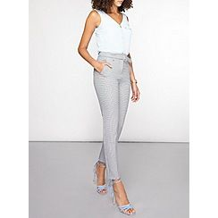 Dorothy Perkins - Tall mono dogtooth tapered trousers
