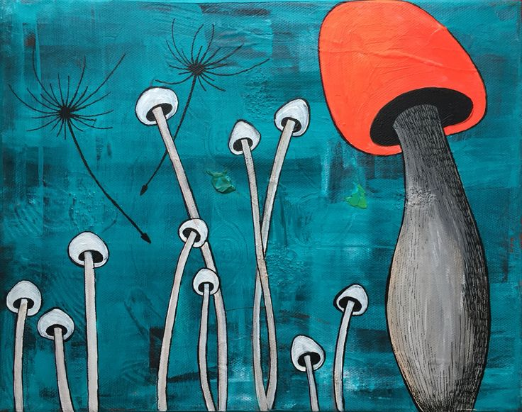 """Underwater mushroom"", by Lisbeth Sahl, 40x30 cm."