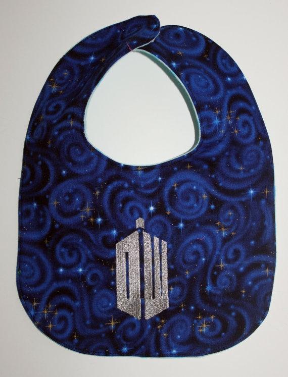 Doctor Who DW Logo Bib by BadWolfStudio on Etsy, $12.99