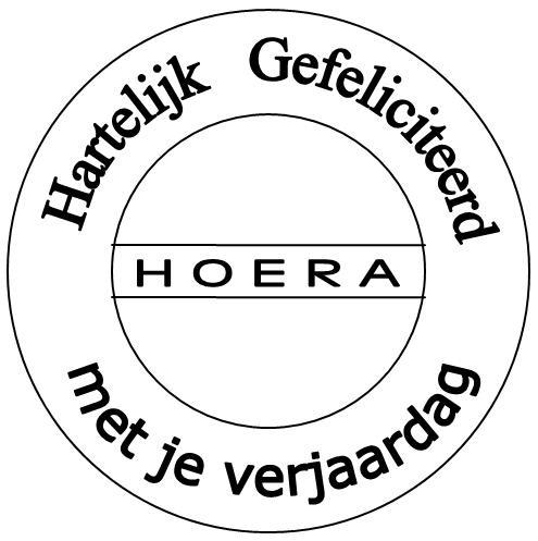 Hartelijk gefeliciteerd-Hoera