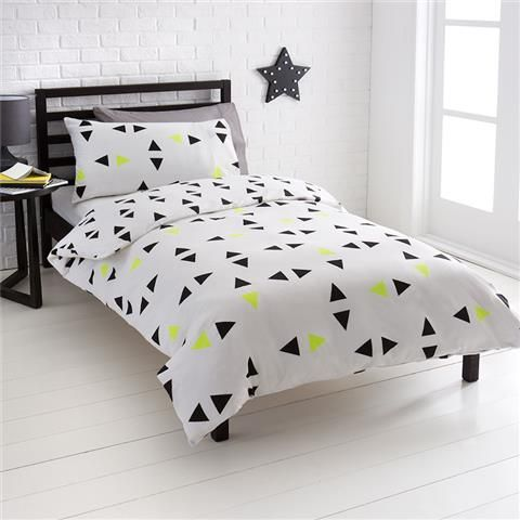 Double Bed Quilt Cover Set Noah Triangles Design Kmart