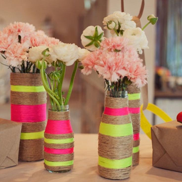 Réaliser un vase ficelle avec vos enfants !