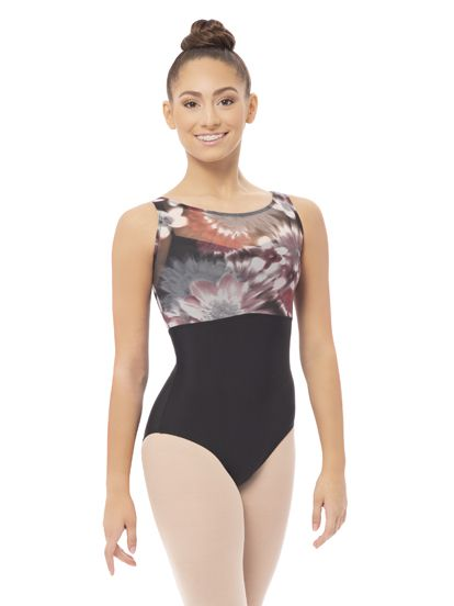 66d2a2775d56 Plume Abstract Mesh Tank Leotard - Limited Edition | Revolution Dancewear