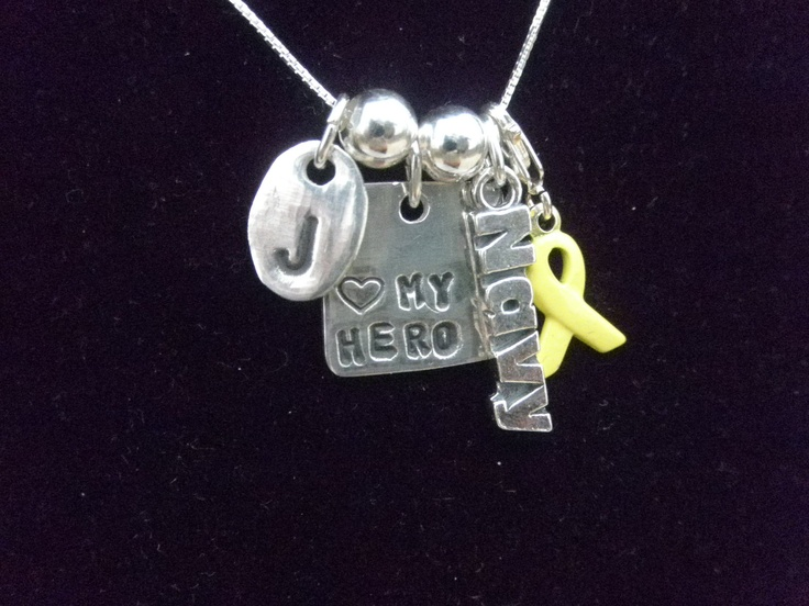 Love it love it    Navy Deployment Support Necklace by silverdragonfly260 on Etsy, $50.00