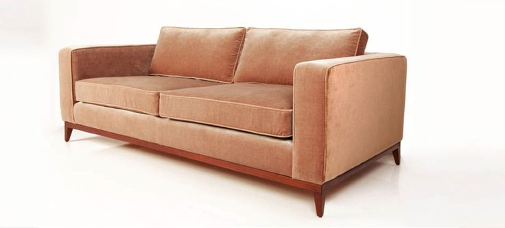 Kingston Sofa in Velvet - Mushroom