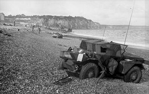 The Dieppe Raid, also known as the Battle of Dieppe, Operation Rutter and, later, Operation Jubilee, was a Second World War Allied attack on the German-occupied port of Dieppe. The raid took place on the northern coast of France on 19 August 1942. The assault began at 5:00 a.m. and by 10:50 a.m. the Allied commanders were forced to call a retreat. Over 6,000 infantrymen, predominantly Canadian, were supported by limited Royal Navy and large Royal Air Force contingents.