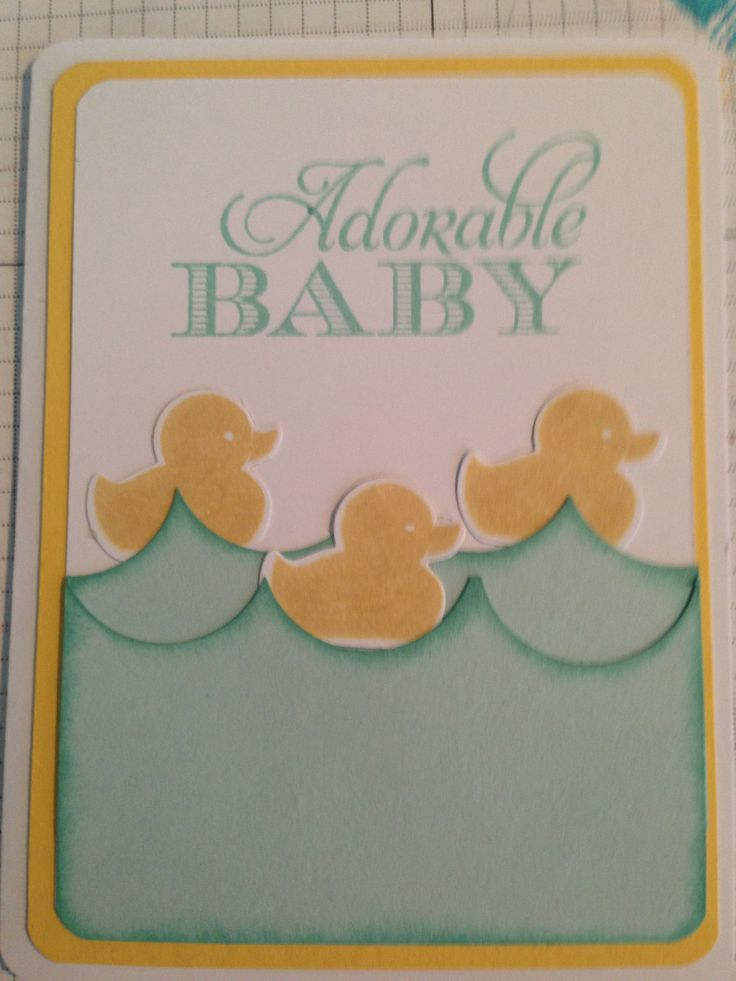 130 best Stampin\' Up Something for Baby Cards images on Pinterest ...
