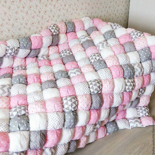Пледы и одеяла ручной работы. Бомбон одеяло. Tirlika_textile. Интернет-магазин Ярмарка Мастеров. Бомбон одеяло, одеяло для девочки