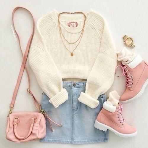botas rosas outfit