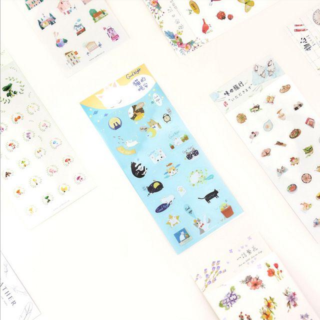 1 х Мода Модели клей бумажный стикер декоративные DIY скрапбукинг планировщик наклейки post it каваи канцелярские