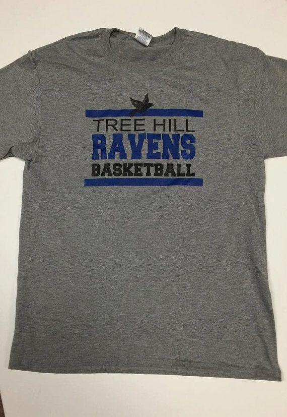 One Tree Hill Ravens Basketball Short Sleeve Tee, Novelty Tee, One Tree