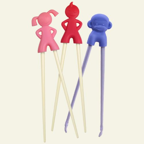 These reusable kids chopsticks are TOO CUTE. Fred & Friends Kids Chopsticks, Boy, Girl, and Chimp.