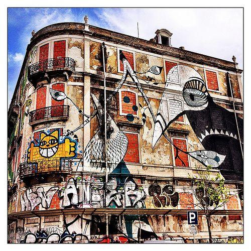Lisboa. Graffiti. Quinta de Santo Antonio