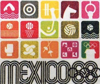 Water Polo legends: 1968, Mexico: Olympic pictograms poster  Please like, share and repin.  Cheers! :)