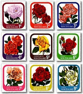 New Zealand Post Stamps issued in 1975.