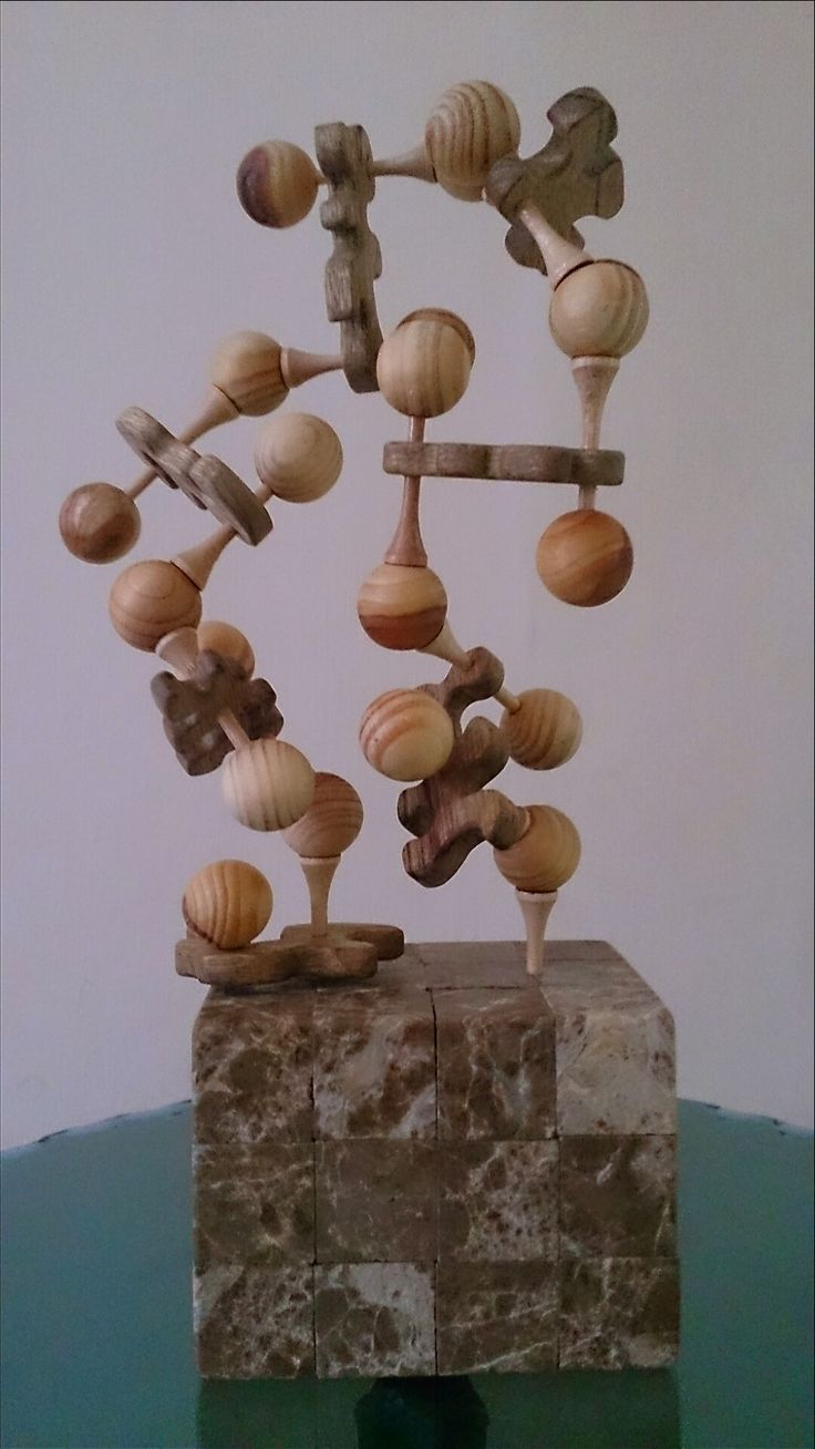 DNA. Stone and wood