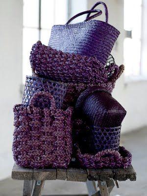 Purple Baskets  | Grandin Road Color Crush on Purple Thistle