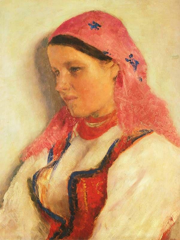 Aleksander Gierymski: Dziewczyna z Bronowic  1893-1894. Olej na płótnie. 61 x 48 cm.   Muzeum Narodowe w Krakowie