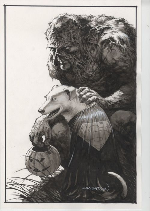 Really love this Bernie Wrightson piece done as a memorial to Steve Niles' dog.
