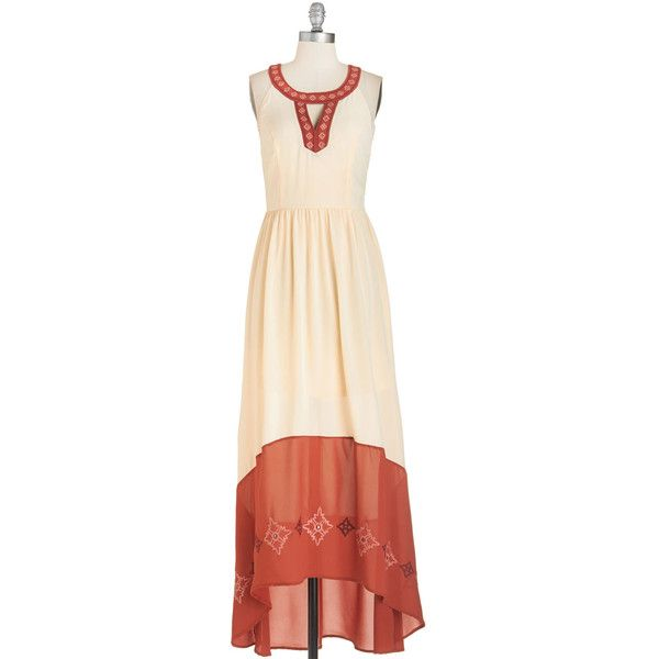 Celebrate your accomplished sense of style by donning this stunning ivory and burnt-orange frock. Accentuated by ornate embroidery in hues of blush and mauve, …
