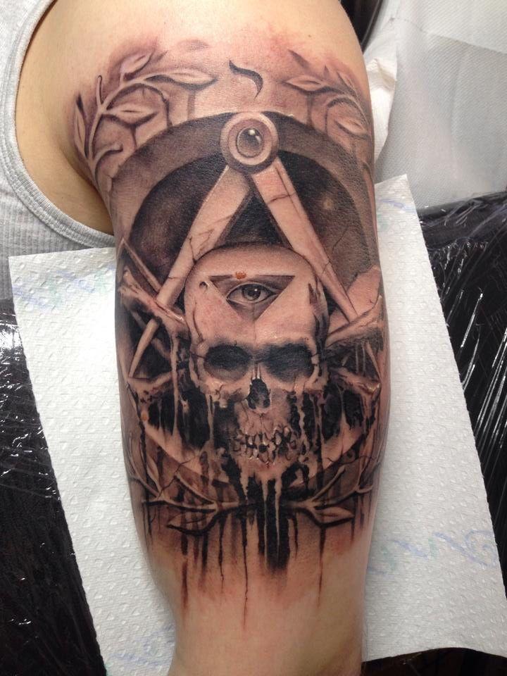 150 best masonic tattoos images on pinterest freemason for Masonic symbol tattoos