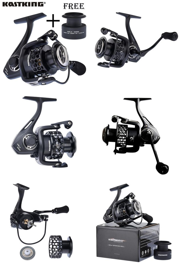 [Visit to Buy] KastKing Mela series Lighter and Stronger Fishing Reel with Spare Spool 11 Ball Bearing Pesca Spinning Wheel #Advertisement