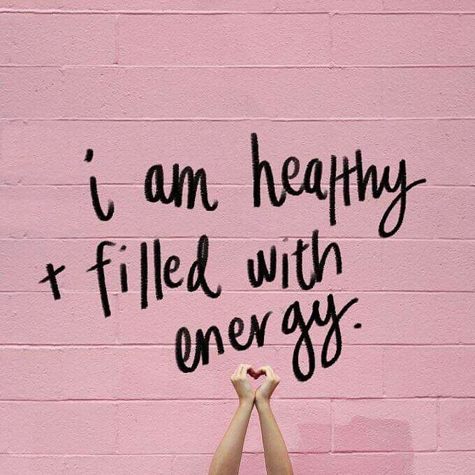 I am healthy and filled with energy! #affirmations