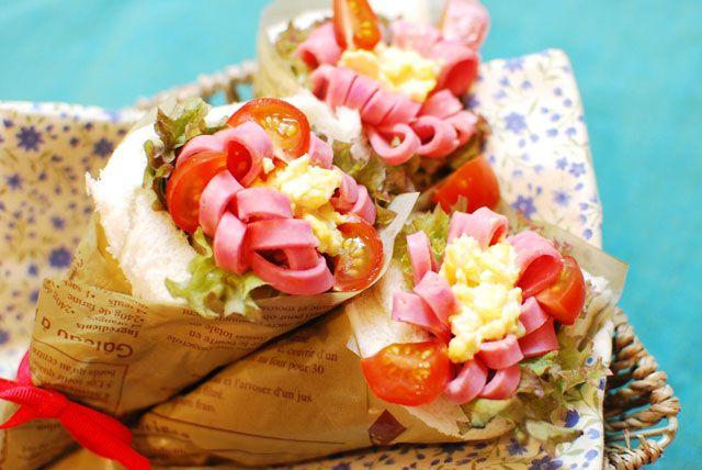 母の日に☆美容効果と愛情たっぷりの花束風サンドイッチ|モテ子BEAUTY