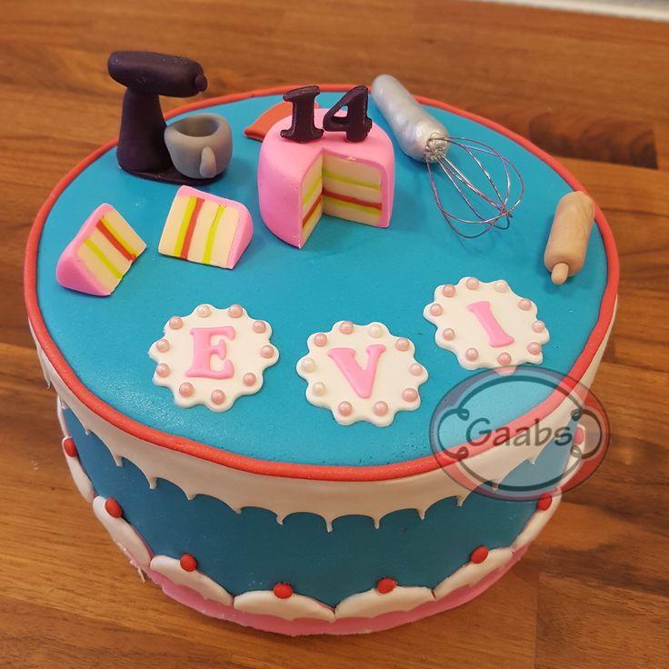Cake with baking theme