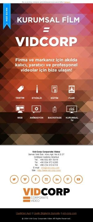 Corporate video means VIDCORP!
