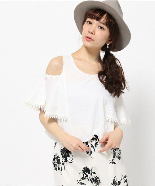 肩開きブラウス(シャツ/ブラウス)|Lily Brown(リリー ブラウン)のファッション通販 - ZOZOTOWN
