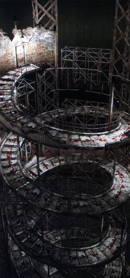Silent Hill 4: The Room: Spiral Staircase - Was created and used by Walter Sullivan to access the many worlds his dark rituals had formed.