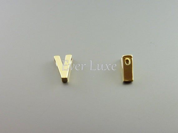 2 Upper Case Letter V Matte Gold Initial Beads Initial Charms Alphabet Beads Personalized Jewelr Alphabet Beads Matte Gold Initials