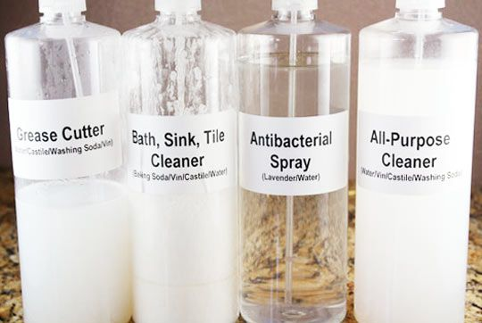 Homemade cleaner recipes.