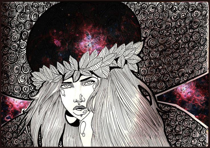 Nebula ink on paper + photoshop