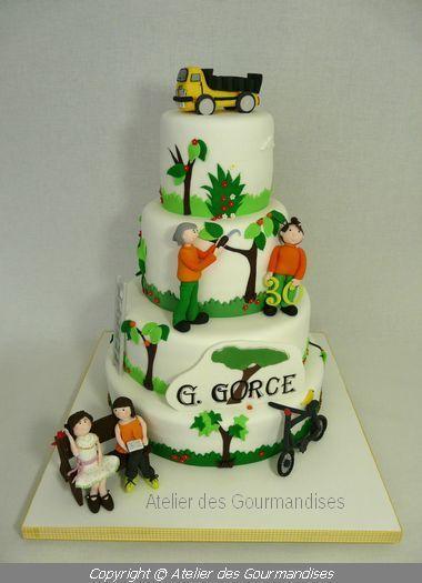 Gâteau entreprise